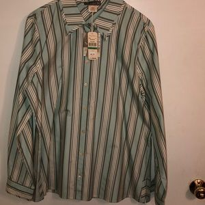 NWT Tommy Bahamas silk/cotton green blouse. Size L